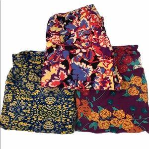 LuLaRoe OS leggings. Size 10. Bundle of 3 NWOT.